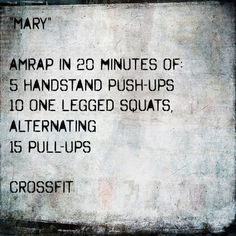 crossfit mary