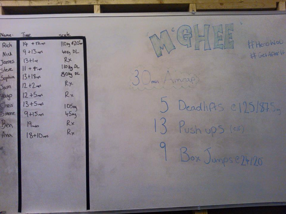 crossfit cambridge hero wod